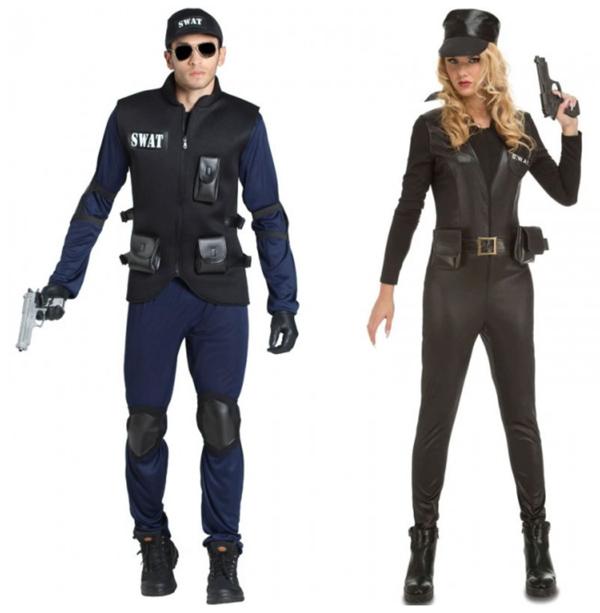 Disfraz pareja agentes swat