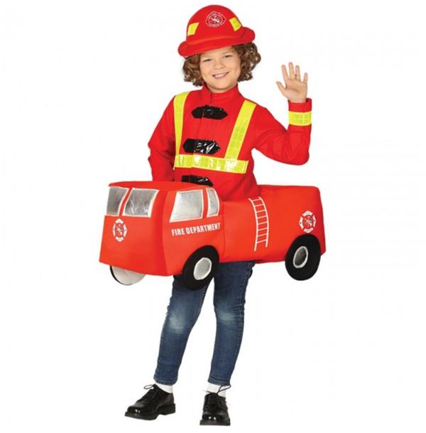 disfraz coche bombero niño