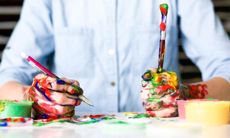 pintura manos